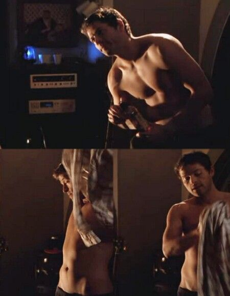 Misha Collins. Well i got a picture of the other two without shirts so i just figured...