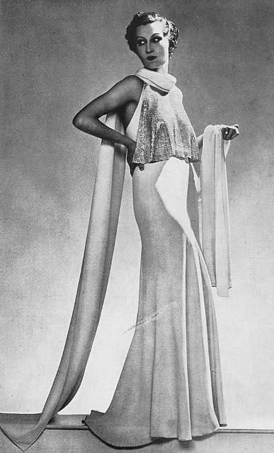 Les Modes (Paris) 1935 Robe du Soir par Jeanne Lanvin