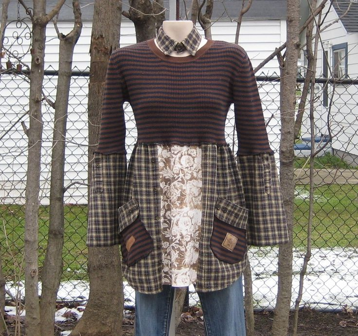 Upcycled Babydoll Tunic Upcycled Clothing Recycled by AnikaDesigns