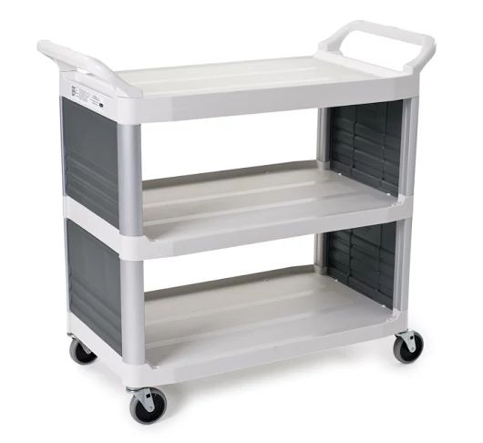 Rubbermaid Xtra Utility Cart- enclosed End Panels on 2 sides - Spacepac Industries
