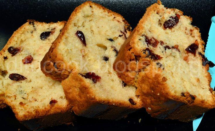 Κέικ βανίλια με cranberries