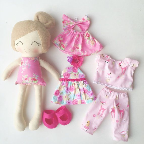 Dress up doll fabric doll handmade doll by LittleSunshineShop11