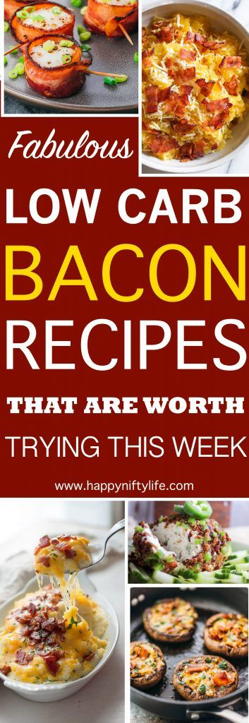 Did you know that you can eat bacon on a ketogenic diet? The good thing about this is that bacon not only tastes great but it's also versatile. It's perfect for breakfast, dinner, lunch, or even dessert. Use bacon as topping or main dish with chicken, cauliflower and more. Try these EASY and YUMMY keto-friendly dishes, appetisers, snacks (party food) today to help burn fat like a machine. #fatburning #keto #ketorecipes #lowcarb #lowcarbrecipes #loseweightfast #weightloss