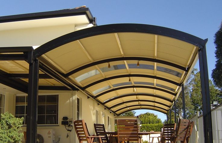 Curved roof patio #stratco #patio #curvedroof #queensland #outdoorliving