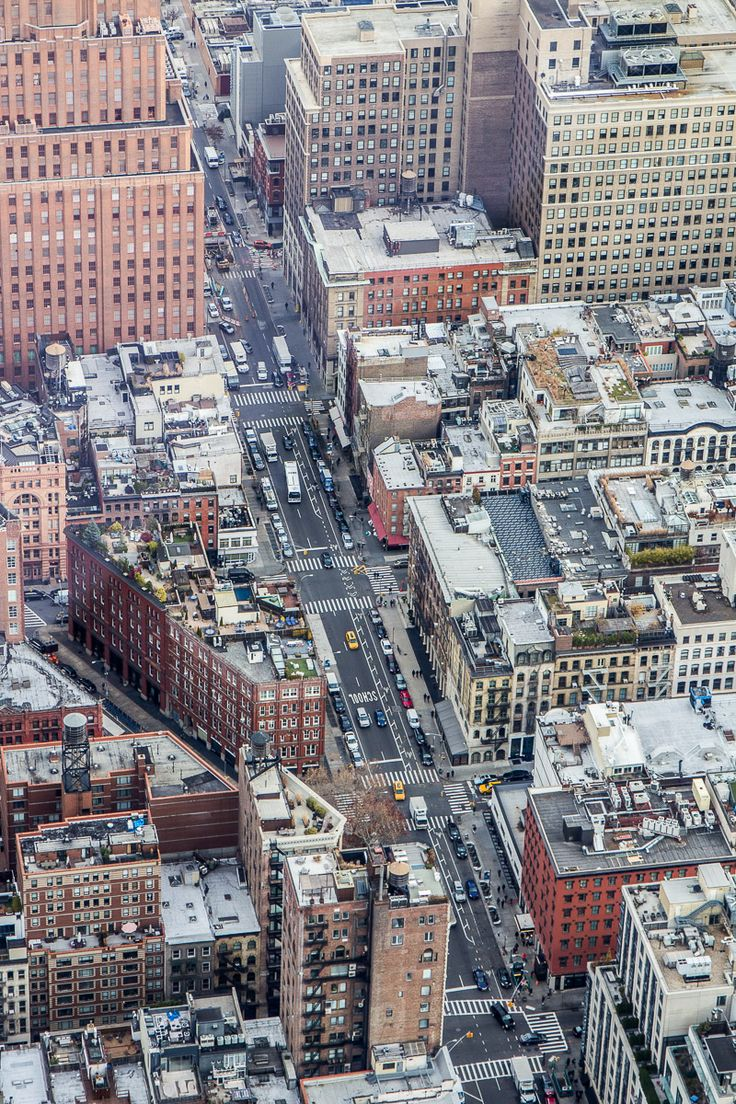 View of NYC streets below from top of One World Observatory. #NYC #NewYork #NewYorkCity