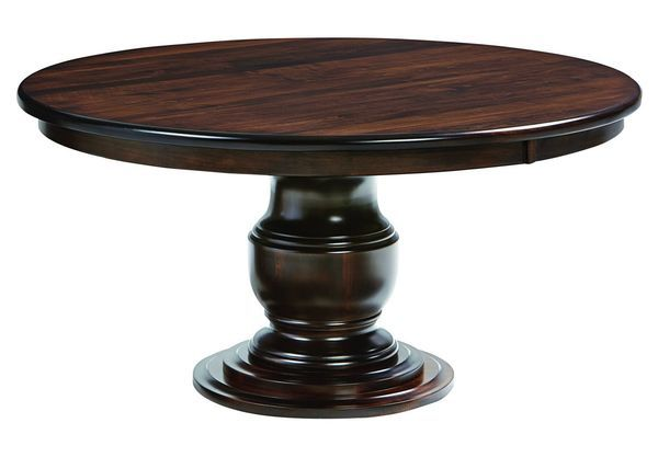 Quick Ship Ziglar Brown Maple Pedestal Dining Table With Images