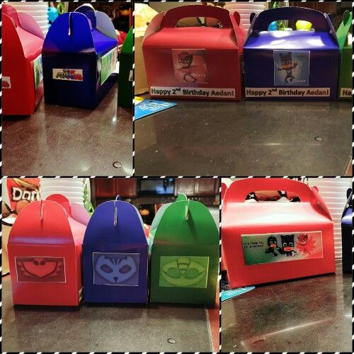 Party Favor Boxes Pj Masks
