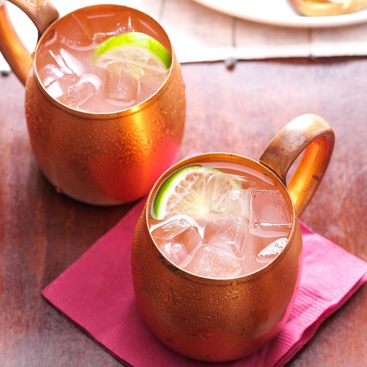 Moscow Mule Recipe -Here's an old-time cocktail that was popular in the 1940s and '50s. It's traditionally served in a copper mug with plenty of ice. —Taste of Home Test Kitchen, Milwaukee, Wisconsin