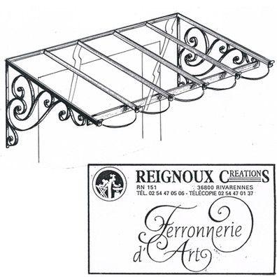 Marquise fer forgé classique, simple pan MA35 | Reignoux créations