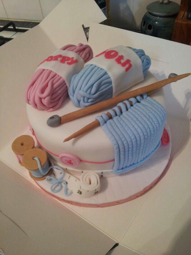 Knitting Cake Decorations : G�teau sur le th�me du tricot cake decorating