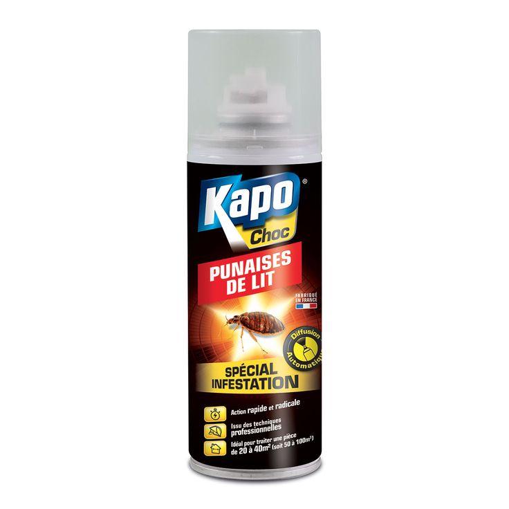 Aérosol à diffusion continue anti-punaises de lit – Insecticide Kapo Choc