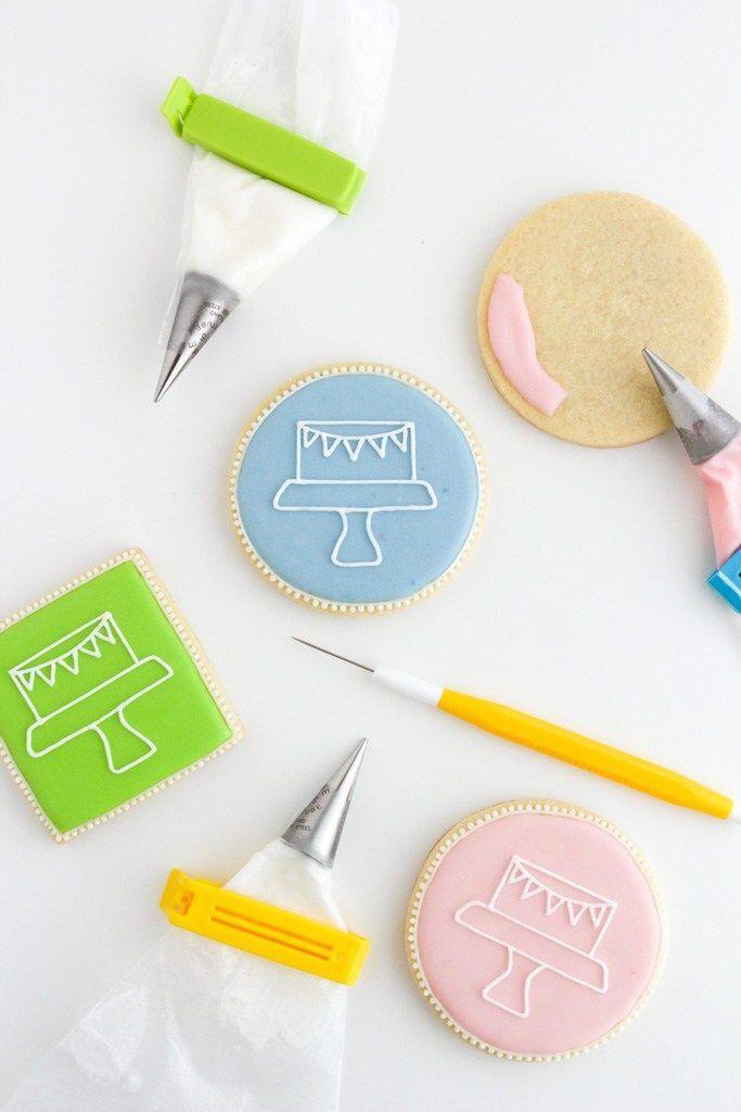 Royal Icing - verzierte Kekse mit vertortelt-Logo