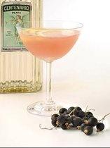 Jim's Diablo;  2 oz Gran Centenario Plata Tequila3/4 oz fresh lemon juice3/4 oz Domaine de Canton liqueur1/4 oz creme de cassis liqueurlemon wheel for garnish