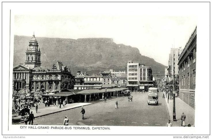 1920s South Africa Cape Town bus terminus City Hall