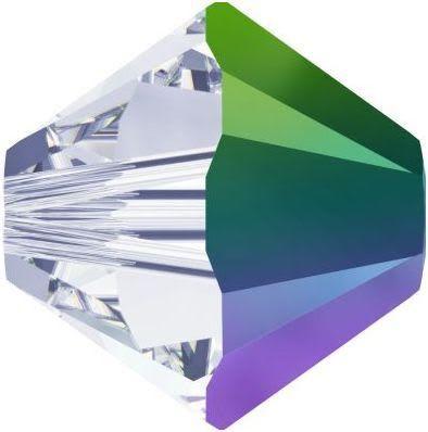 New Swarovski Innovations Fall-Winter-2016-17 Crystal Scarabaeus Green 5328 Xilion Bicone Beads