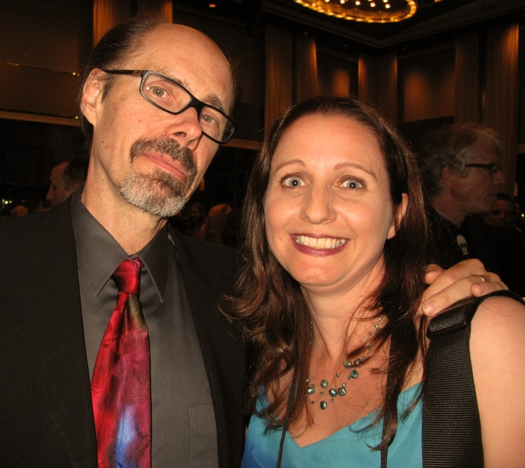 Thriller authors Jeffrey Deaver and J.F.Penn at Thrillerfest 2012 in New York