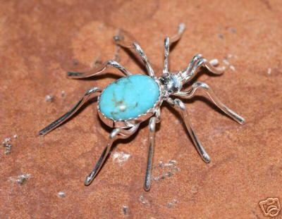 Native American Jewelry Navajo Indian Turquoise Spider