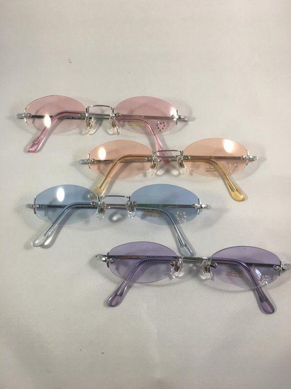 4300ae515c0 Vintage 90 s Tiny Tinted Oval Sunglasses