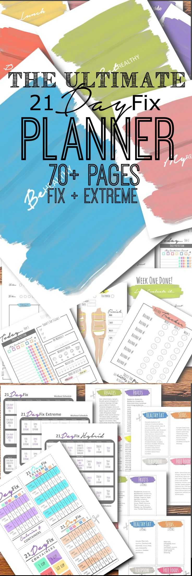 NEW and IMPROVED 21 Day FIX and 21 Day Fix EXTREME PLANNER!!! Meal planner…
