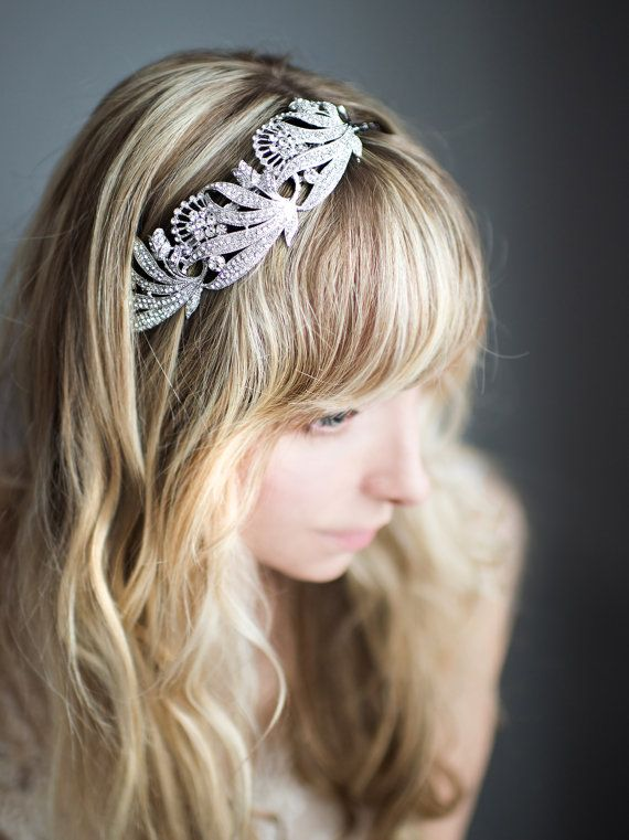 $160.41+ $10.69 shipping (CAD) | 1920s Gatsby Bridal Headband Flapper Bridal by LottieDaDesigns