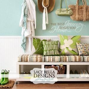 Entryway Quote - The Best Journey Takes You Home