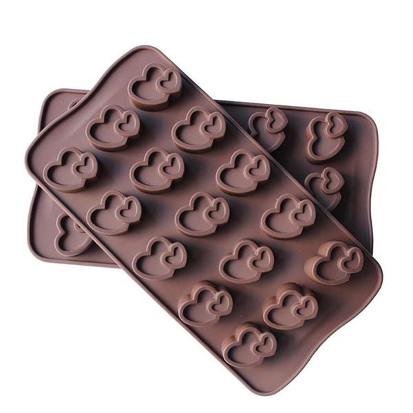 Silicone Double Heart Chocolate Mold by Creativities International is designed for making chocolates or cute baked treat easily. It can be also used for making ice, cookie, jelly and pudding. The flexible silicone material of the mould allows for quick and easy removal, retaining the original shape. They are made up of 100% high-quality food grade silicone material. It is easy to use, store and clean. Molds are non-stick and very flexible. It is Oven, OTG, Freezer, and Microwave Safe.