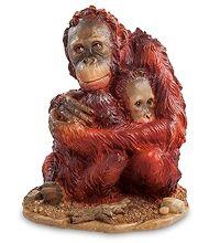 """WS-764 Статуэтка """"Орангутанги"""" скульптура обезьяна символ года 2016 новогодние подарки на новый год сувениры фигурка обезьянка новогодняя купить"""