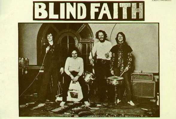 Famously released with a controversial cover featuring a topless pubescent girl, the Blind Faith album was also issued with this photo of the band on the cover.