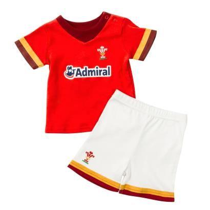 Wales Baby Tee Shirt and Shorts Set 2016 - Front