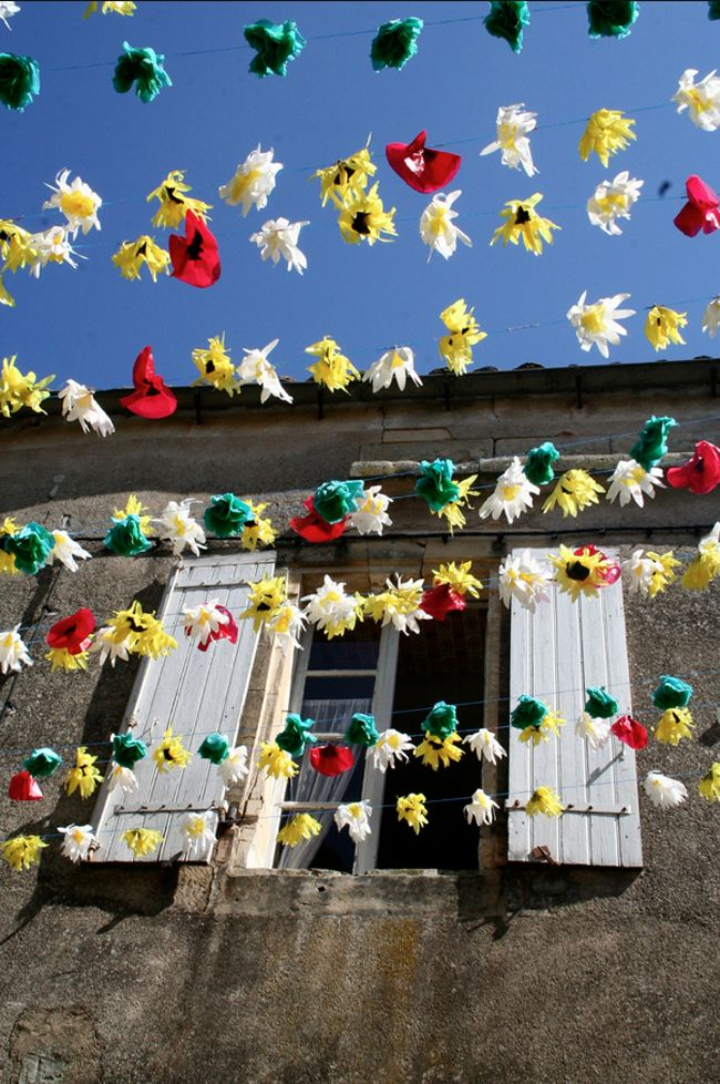Montisola, Iseo Lake. Flower festival. Italy