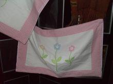 Children's applique pair pillowcases.
