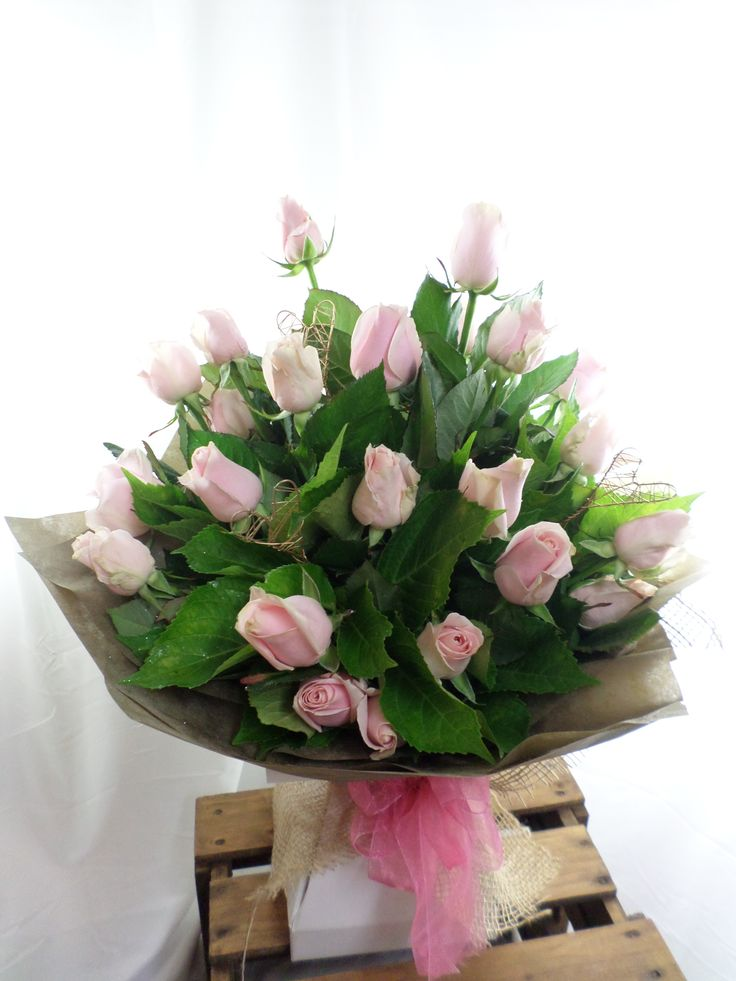 Pink roses bouquet. Elegant and beautiful. Created by Florist ilene