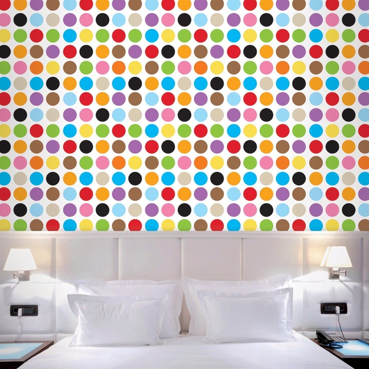 Large Multidot Removable Wallpaper. Peel U0026 Stick Vinyl. Reusable, Non Toxic,