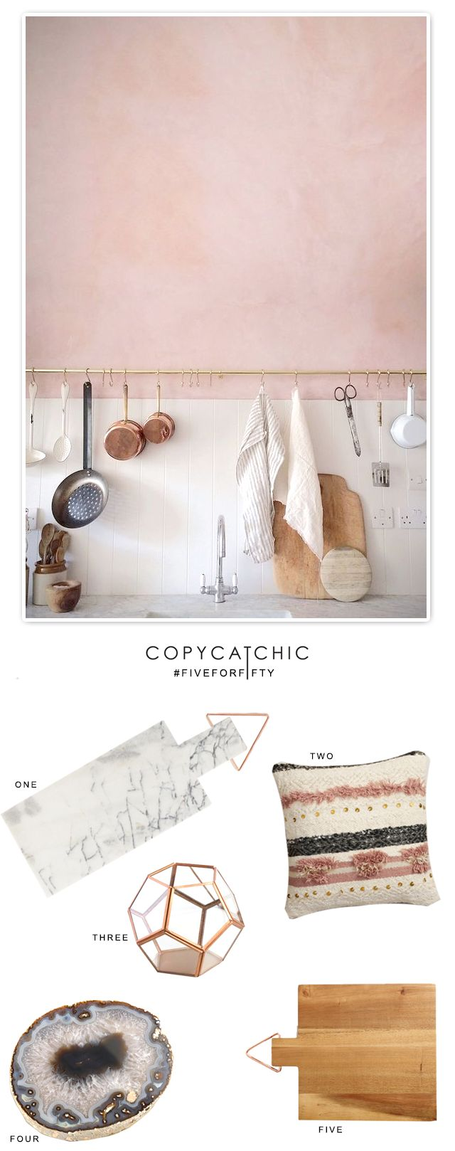 Copy Cat Chic: Five for Fifty | Copper Blush and Marble for Valentine's Day
