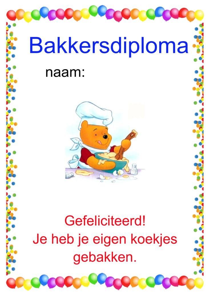 Een diploma, certificaat of oorkonde maken en delen, zoals Pietendiploma, tafeldiploma, veterdiploma, bewijs van deelname of een ander certificaat, diploma of oorkonde.