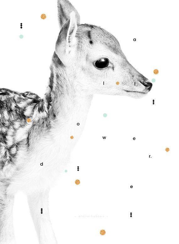 DAIM Portrait Affiche enfant par AtelierKokoon sur Etsy