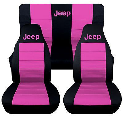 1976 2016 Jeep Wrangler Two Tone Seat Covers Canvas Front Rear Choose Color