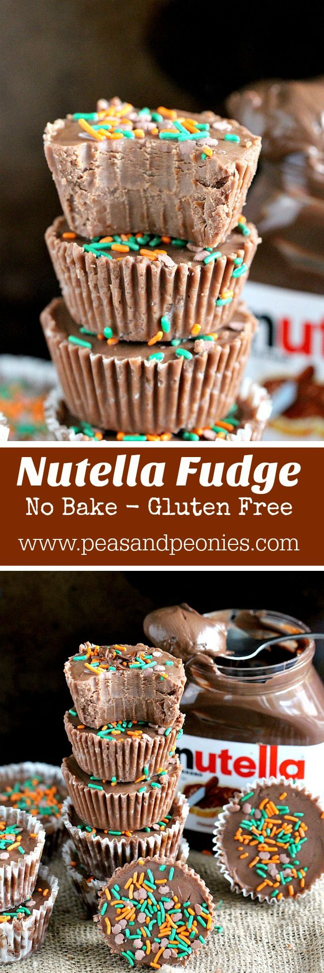 Quick and easy, No Bake Nutella Fudge is creamy, chocolaty, sweet and delicious, made in just minutes using your microwave.