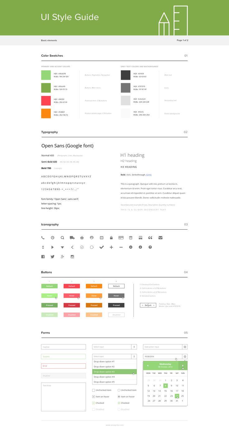 UI Style guide / Alex Gilev
