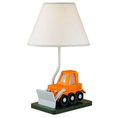CAL LIGHTING BO-5667 BULL DOZER CHILDRENS TABLE LAMP - Click image twice for more info - See a larger selection of kids table lamps at http://tablelampgallery.com/product-category/kids-table-lamps/ - home, home decor, home ideas, desk lamp , gift ideas, lightning, lamp, kids lamp