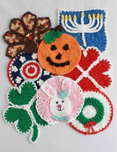 Maggie's Crochet · Holiday Dishcloths Crochet Pattern