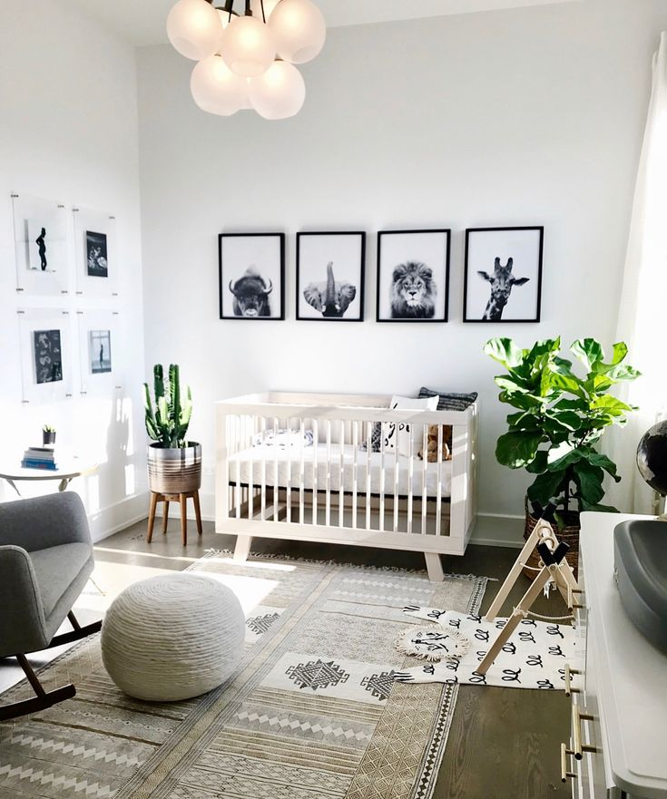 "262 Likes, 8 Comments - HelloBirdieBirdie-Nasaa (@hellobirdiebirdie) on Instagram: ""Beautiful neutral nursery inspiration by @carlyzuba Today is the last day of free shipping baby…"""
