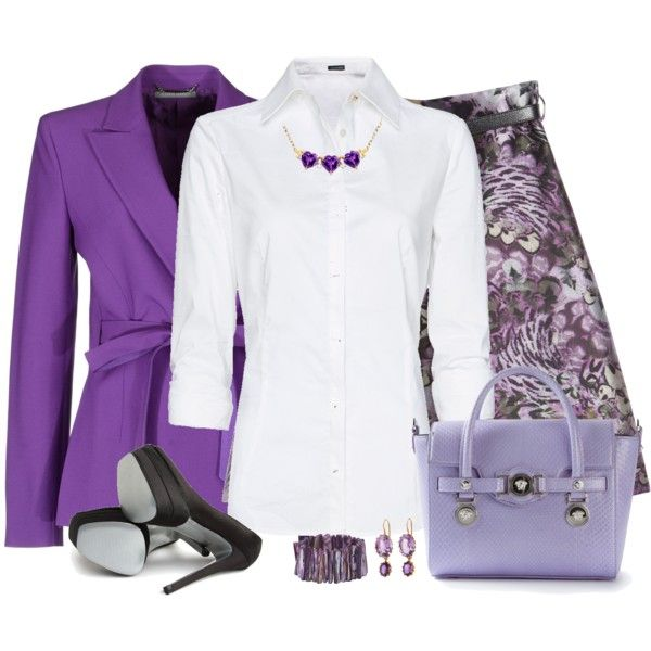 """White Shirt for the Office"" by daiscat on Polyvore"