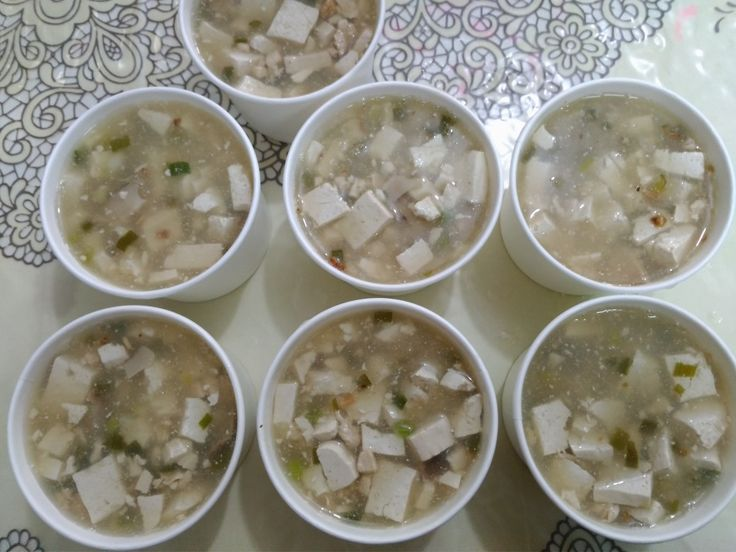 Sup tahu ayam jamur