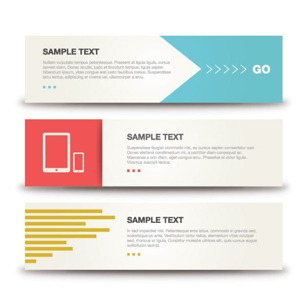 Minimalistic Banners - Vector Graphic by DryIcons #minimalist #modern #icons