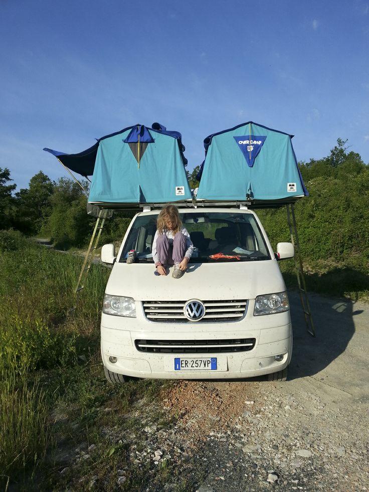 vw t5, overcamp, tenda da tetto, roof tent, maggiolina, aircamping,