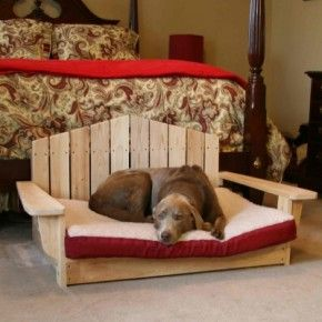 Great pallet / wooden dog bed / bench.