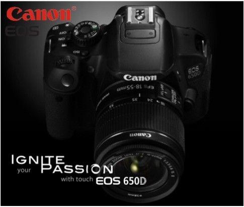 Canon EOS 650D Digital SLR Camera Kit (18-55mm IS II Lens Kiss X6)