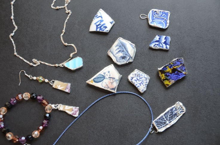 {Shards of Hope}    Broken pottery turned into beautiful jewelry from the Tsunami in Japan