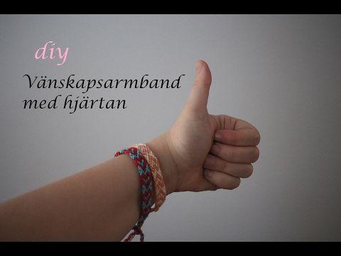 Vänskapsarmband med hjärtan till alla hjärtans dag - YouTube